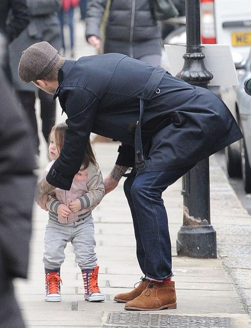 David Beckham Takes Harper Out In London