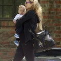 Elizabeth Berkley And Son Sky Visit A Friend
