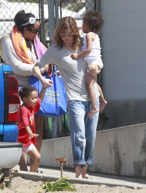 Exclusive Ellen Pompeo And Family Enjoy A Day On The