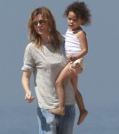 Exclusive... Ellen Pompeo And Family Enjoy A Day On The Beach