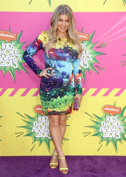 Fergie Shows Off Her Bright Bump at Nickelodeon's 26th Annual Kids' Choice Awards