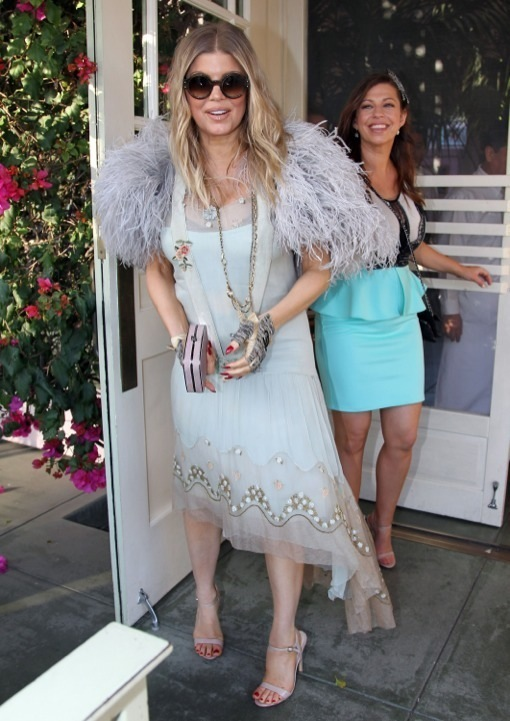 Pregnant Fergie At Her Sister's Bridal Shower