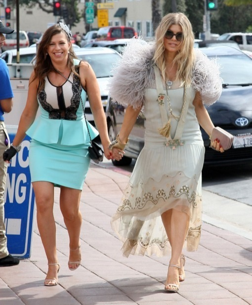 Pregnant Fergie Glows While Attending Bridal Shower