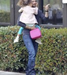 Gabriel Aubry Takes Nahla To School