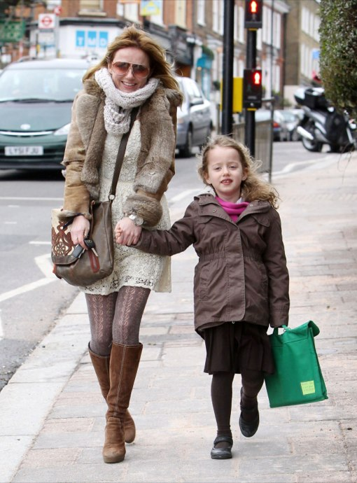 Geri Halliwell Makes The School Run After Celebrating British Mother's Day