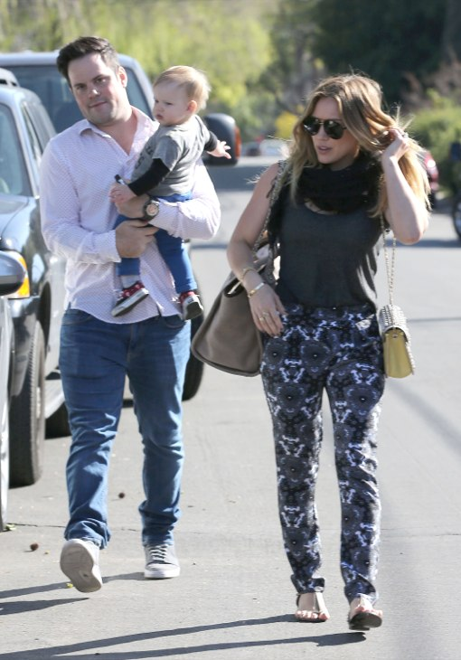 Hilary Duff And Her Family Attend A Birthday Party Celeb