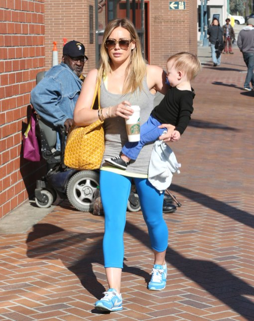 Hilary Duff Takes Her Little Boy To The Doctor's Office