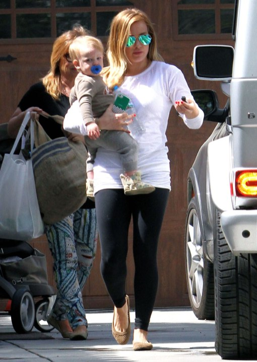 Hilary Duff's Busy Day Out With Her Sleeping Tot