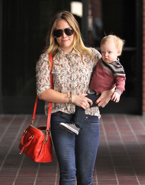Hilary Duff Spends The Day Bonding With Luca