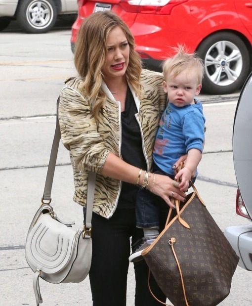 Hilary Duff Enjoys Some Sunday Family Bonding
