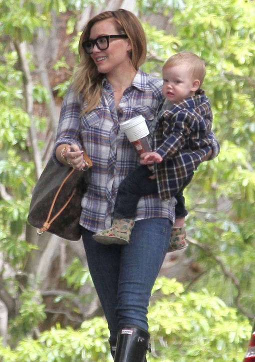 Hilary Duff Takes Luca to a Playdate