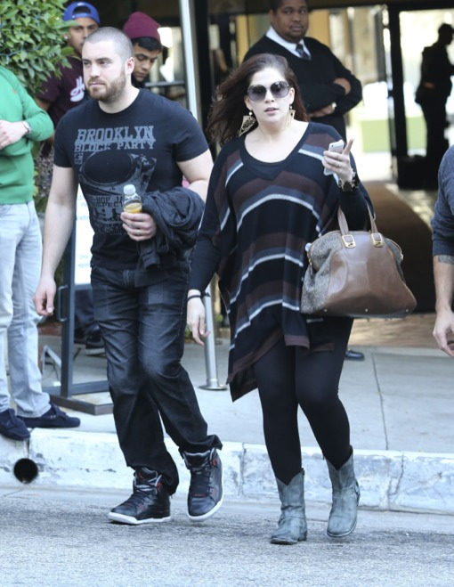 Lady Antebellum Leaves Meeting at Sunset Marquis Hotel