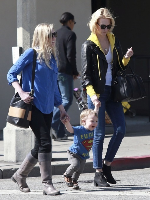 January Jones Takes Her Future Hero To Lunch