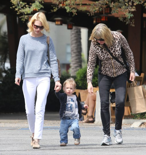 January Jones Takes Xander To Lunch