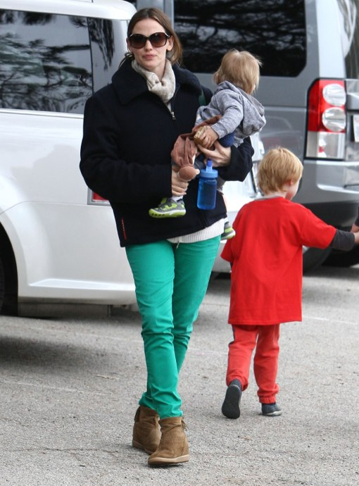 Jennifer Garner & Ben Affleck Enjoy St Patrick's Day With Their Lucky Charms