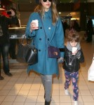 Jessica Alba & Honor Land In Paris