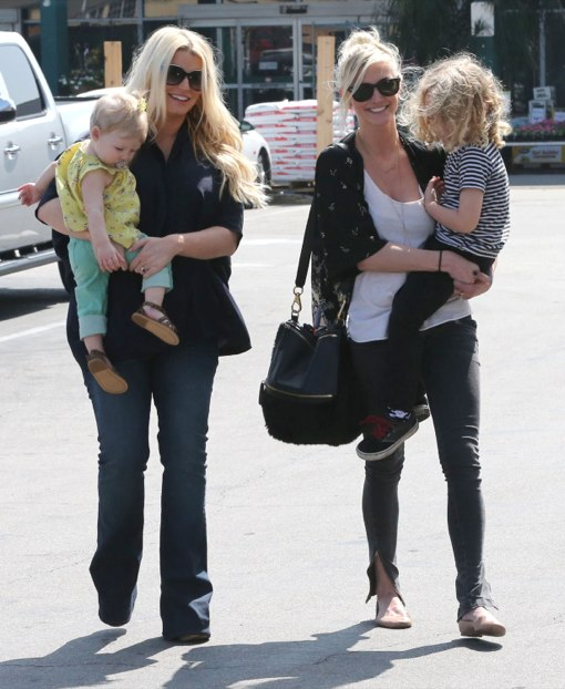 The Simpson Sisters Bond With Their Kids