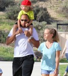 Kendra Wilkinson And Her Family Play At A Park