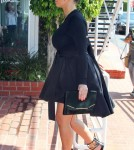 Pregnant Kim Kardashian Stops By Fred Segal