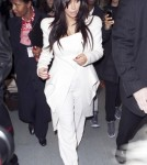 Kim Kardashian Looks Angelic at Paris Airport
