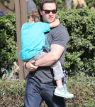 Mark Wahlberg Takes His Son To The Park