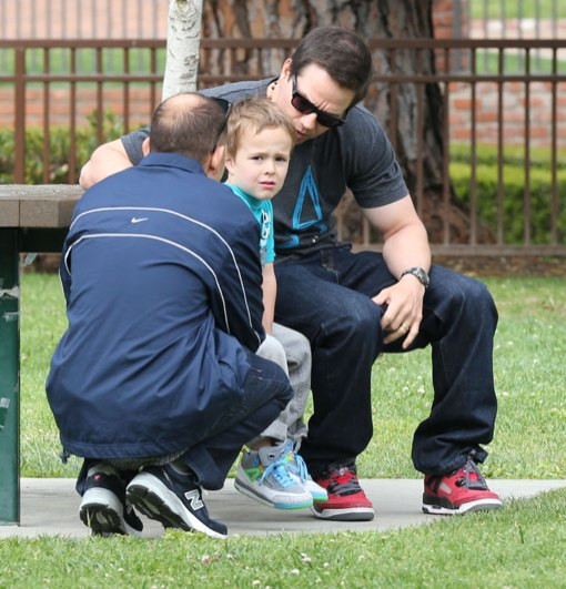 mark wahlberg takes his son to the park celeb baby laundry