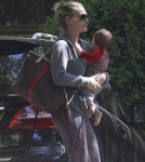Molly Sims Takes Son Brooks To A Playdate