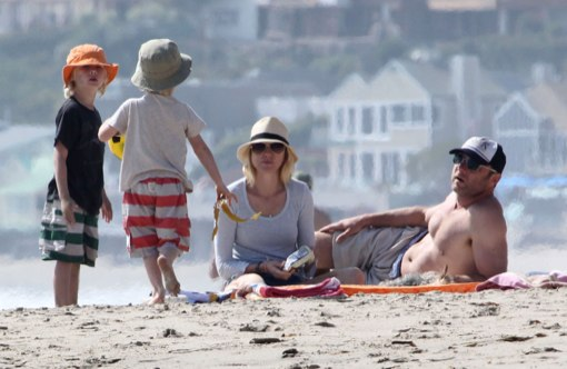 Naomi Watts & Liev Schreiber Enjoy a Beach Day With Their Kids