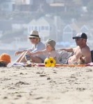 Naomi Watts & Family Enjoy A Day At The Beach