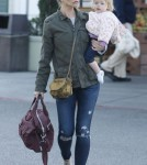 Rebecca Gayheart & Daughter Georgia Grocery Shopping