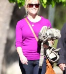 Exclusive... Reese Witherspoon And Family Attend A Birthday Party In Brentwood