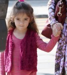 Semi-Exclusive... Salma Hayek Takes Her Daughter To The Doctor