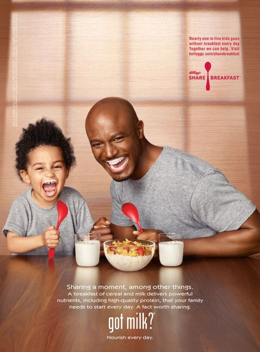 Taye Diggs Shares 'Got Milk' Ad with Son Walker