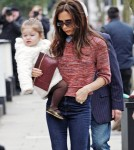Victoria Beckham & Harper Step Out In London