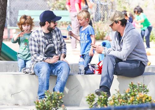 Jordan Bratman Takes Son Max For Fun In The Park