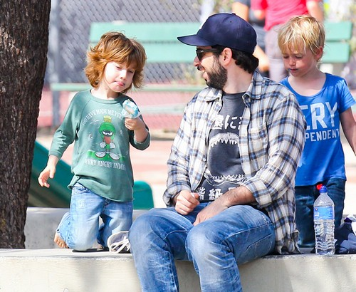 Jordan Bratman Takes Son Max For Fun In The Park