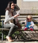 Bethenny Frankel & Bryn Stop For Ice Cream In The Park