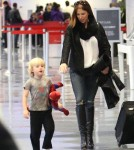 Poppy Montgomery and Son Jackson Depart LAX