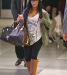 Exclusive... Snooki Arrives On A Flight At LAX