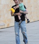 Exclusive... John Travolta Takes Benjamin Out In Sydney