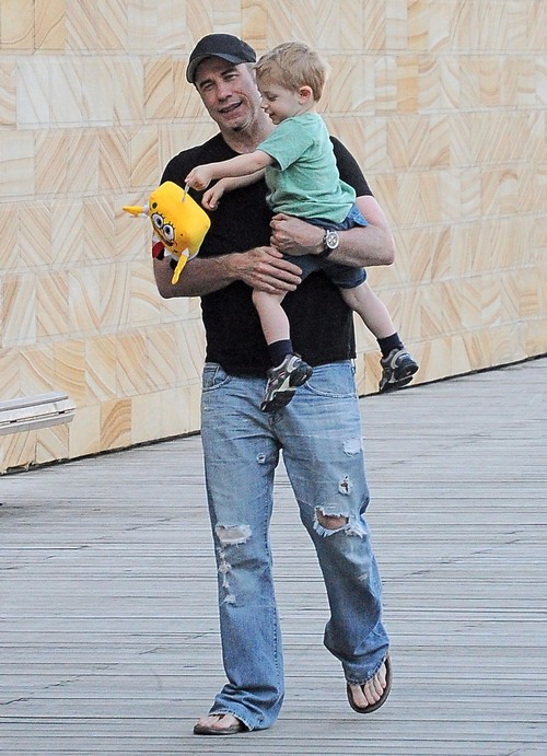 Cute Daddy Alert: John Travolta Takes Son Benjamin For A Stroll In Sydney, Australia