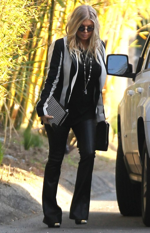 Fergie Shows Off Her Rockin' Maternity Style While Heading To a Party
