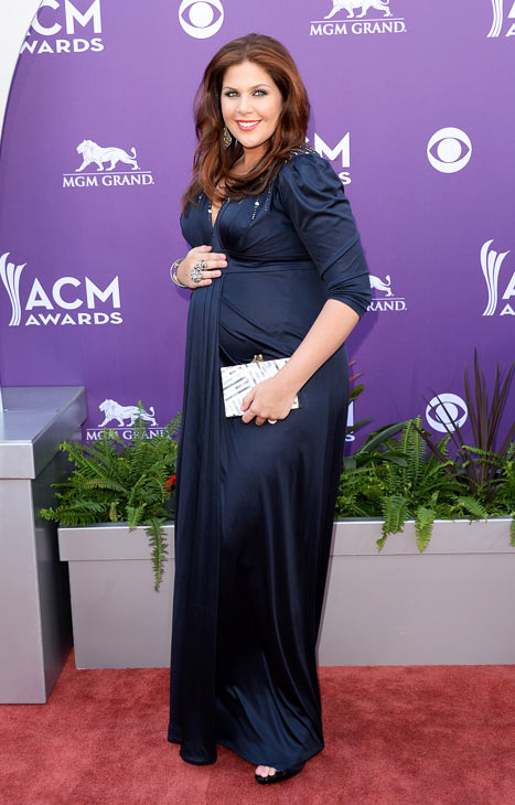 Hillary Scott Bumps at the Academy of Country Music Awards
