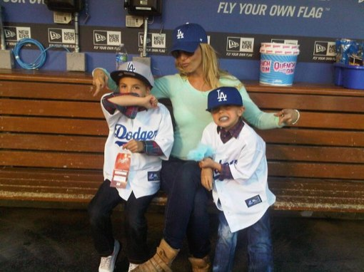 Britney Spears & Sons: LA Dodgers Fans