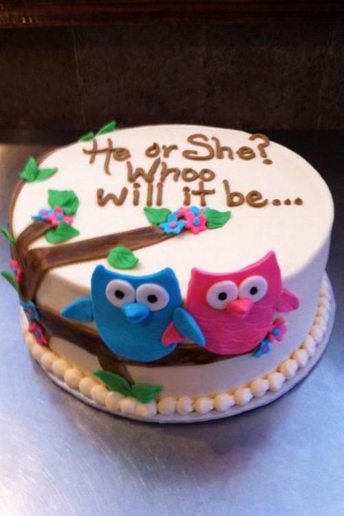 Pregnancy Reveal Cake Ideas