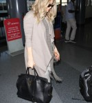 Pregnant Fergie Departing On A Flight At LAX