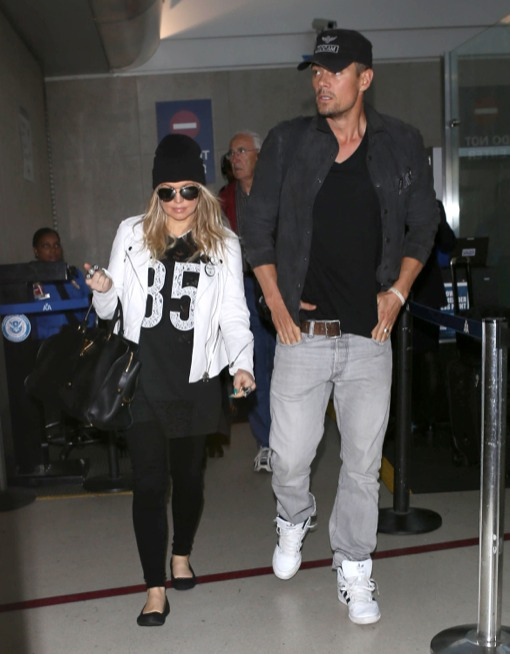 Fergie & Josh Duhamel Land At LAX Airport