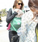 Gisele Bundchen & Daughter Vivian Departing On A Flight At LAX