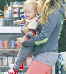 Hilary Duff and Mike Comrie Take Luca to Breakfast