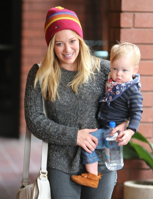 Hilary Duff Brings Her Little Cowboy To Class